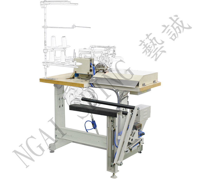 Shirt Front Box Placket Interlining Cutting Device with Stacker